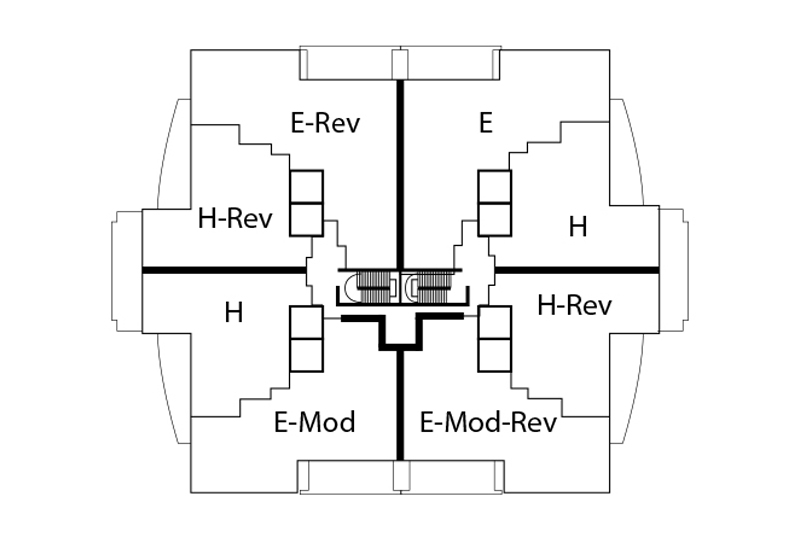 NORTH TOWER FLOORS 7-20