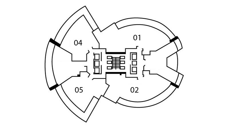 Floors 20 - 34