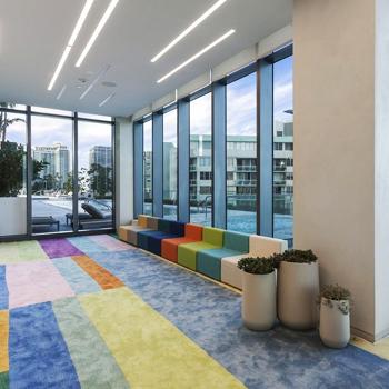 Two full floors of amenities