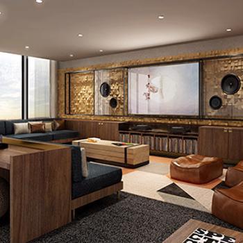 Hyde Media room