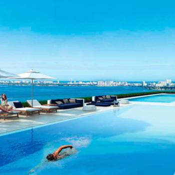 Expansive pool deck