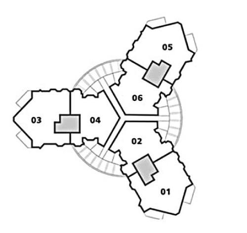 Residences E - F